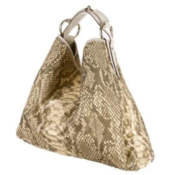 ee15c86095a Gucci Python Horsebit Hobo Bag